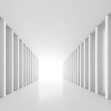 White Tunnel Background. 3d Illustration of White Tunnel Background Royalty Free Stock Images