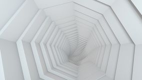 White tunnel abstract 3D rendering. White tunnel. Computer graphics. Abstract 3D rendering stock illustration