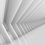 White Tunnel. 3d Illustration of White Tunnel Background Stock Photography