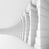 White Tunnel. 3d Illustration of White Tunnel Background Stock Photo
