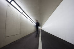 Man in tunnel Royalty Free Stock Photography
