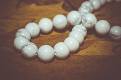 White Turquoise Beads Retro Stock Photography