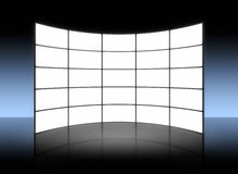 White TV panel. An illustration of a big white TV panel Stock Photos