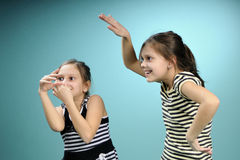 White twins having fun Stock Photography