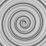 White twisted spiral shape abstract 3D render Royalty Free Stock Photography