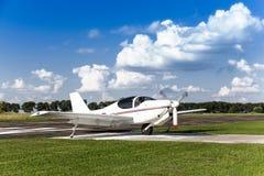 White two-seater mini plane Royalty Free Stock Photos