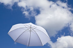 White umbrella Stock Images