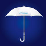 White umbrella Stock Image