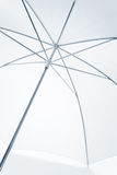 White Umbrella in blue tone Royalty Free Stock Image