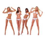 In white underwear Stock Photos