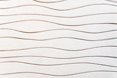 White undulated plaster Royalty Free Stock Image