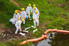 White uniform store toxic chemicals Stock Photos