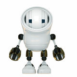 White unusual robot Stock Photo
