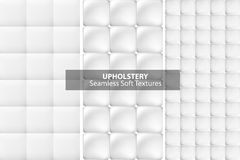 White upholstery textures. Seamless. Royalty Free Stock Photo