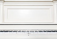 White upright piano Royalty Free Stock Photo