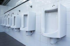 White urinal man of bathroom Stock Photo