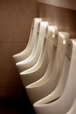 White urinals in men's bathroom. Stock Photography