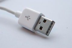 White usb cable Stock Images