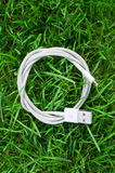 white usb cable Obrazy Royalty Free