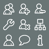 White users web icons Royalty Free Stock Photo