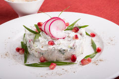 White uzbek salad Royalty Free Stock Photos