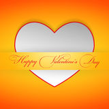 White valentine card in the pocket. Eps10 Stock Image