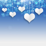White Valentine Hearts Stock Image