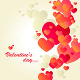 White valentine's day card. With red hearts Royalty Free Stock Images