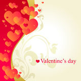 White valentine's day card. With little red hearts Stock Photography