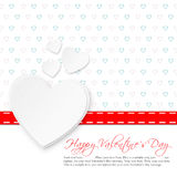White valentine`s day card with a big heart Stock Image