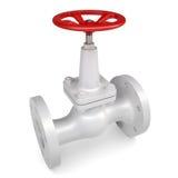White valve. Isolated render on white background Stock Photography