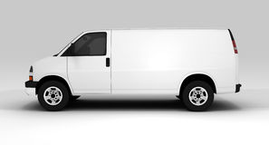 White van. A white van isolated on a background Stock Image
