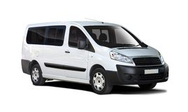 White van Fiat Scudo Royalty Free Stock Photo