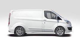 White van Ford Transit Custom isolated on white
