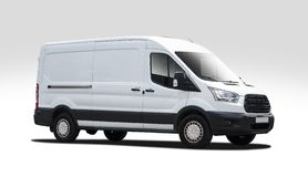 White van Ford Transit Royalty Free Stock Image