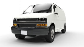 White Van Front View Royalty Free Stock Images