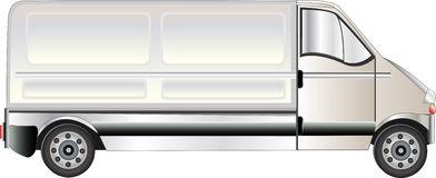 White Van Illustration Royalty Free Stock Image