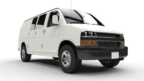 White Van - Low Front Shot Stock Images