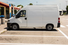 White van Royalty Free Stock Photos