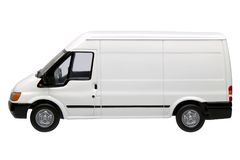White van side Royalty Free Stock Photo