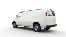 White Van - Side Back View Royalty Free Stock Photo