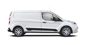 White van Ford Transit Connect isolated on white