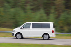 White Van at Speed Royalty Free Stock Photography