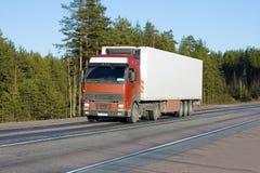White van truck Stock Images