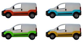 White vans Stock Photography