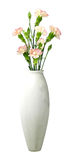 White vase with flowers Royalty Free Stock Photos