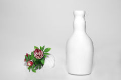 White Vase And Flowers Royalty Free Stock Photography