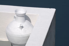 White vase on Santorini Royalty Free Stock Image