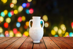 White Vases on the table Royalty Free Stock Image