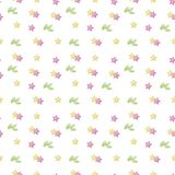White vector background pattern of asterisks leafs leaves isolated on white background pink yellow cute light colored seamless. White vector background pattern stock illustration